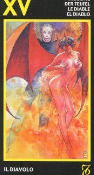 Верность партнеру и Дьявол из таро Манара